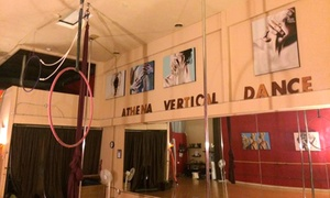 Athena Vertical Dance: One Drop-In Pole-Dancing Class or Four Beginner Classes at Athena Vertical Dance (Up to 51% Off)