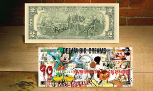Disney's Mickey Mouse's 90th Birthday Bill Hand-Signed by Rency