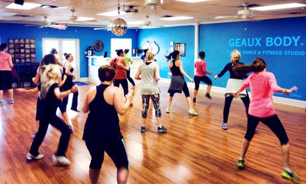 5 or 10 Dance Classes at Geaux Body (61% Off)