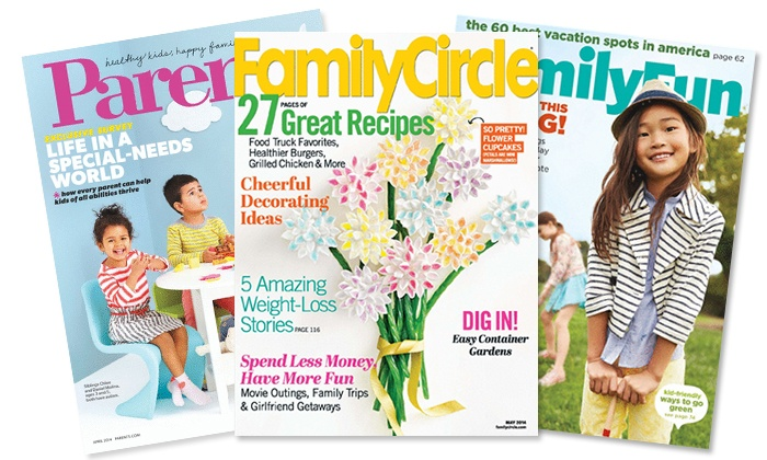 "Blue Dolphin Mother's Magazines: Subscription to ""Parents,"" ""Family Circle,"" or ""FamilyFun"" from Blue Dolphin Mother's Magazines (Up to 65% Off)"