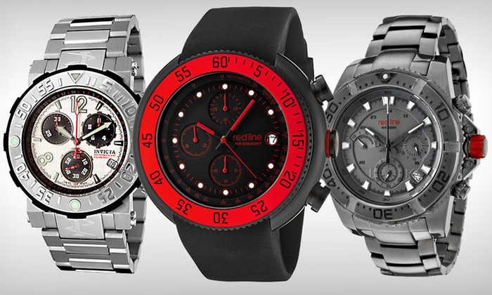 Invicta or Red Line Men's Watches: Red Line Men's Watches (Up to 88% Off). Multiple Designs Available.