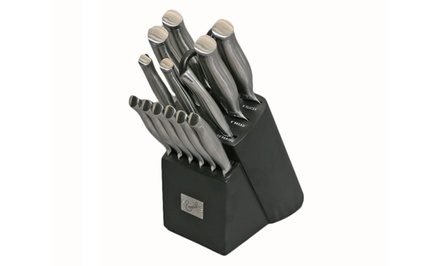 Emeril 15-Piece Stainless Steel Handle Knife Block Set