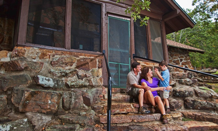 Greenleaf State Park - Braggs, OK: $46 for a 1-Night Stay for Up to 4 in a 1-Bedroom Stone Cabin at Greenleaf State Park (Up to $93 Value)