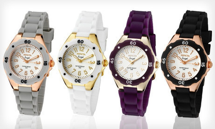 Invicta Women's Angel Watches: Invicta Women's Angel Watch (Up to 90% Off). Multiple Options Available. Free Shipping and Free Returns.