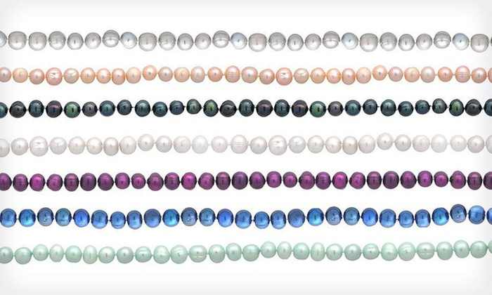 """Colored Freshwater-Pearl Necklaces: $8.99 for an 18"""" Colored Freshwater-Pearl Necklace ($45 List Price). Seven Colors Available. Free Returns."""