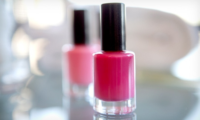 Nails by Jo Jo - Somerset Manor: One or Three Groupons, Each Good for a Shellac-Manicure or Spa-Pedicure Package at Nails by Jo Jo (Up to 52% Off)