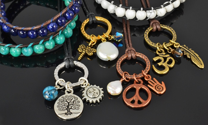 Beads 'N Things - Pittsford: Charm-Necklace or Leather-Wrap-Bracelet Class at Beads 'N Things (50% Off)