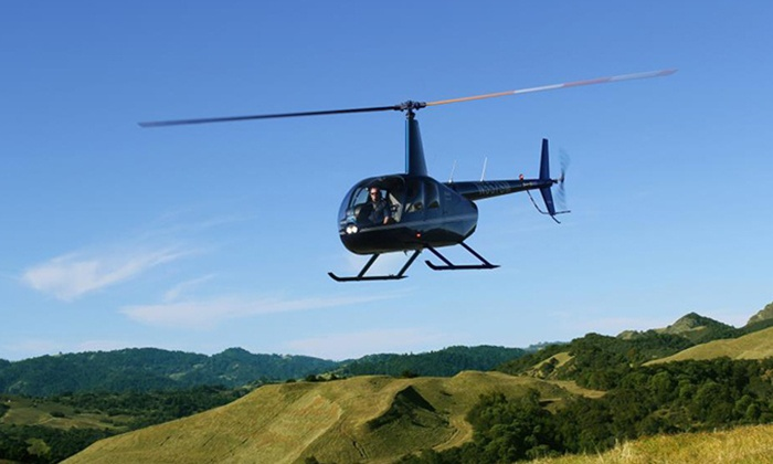 Sonoma Helicopter - Multiple Locations: $265 for a Helicopter Ride and Wine Tasting for up to Three People from Sonoma Helicopter ($515 Value)