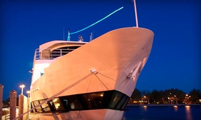 Above All Cruises - Skyport Marina: $39 for an Evening Cruise for One Passenger with Two Drinks, a Dinner Buffet, and a Live DJ from Above All Cruises ($79 Value)