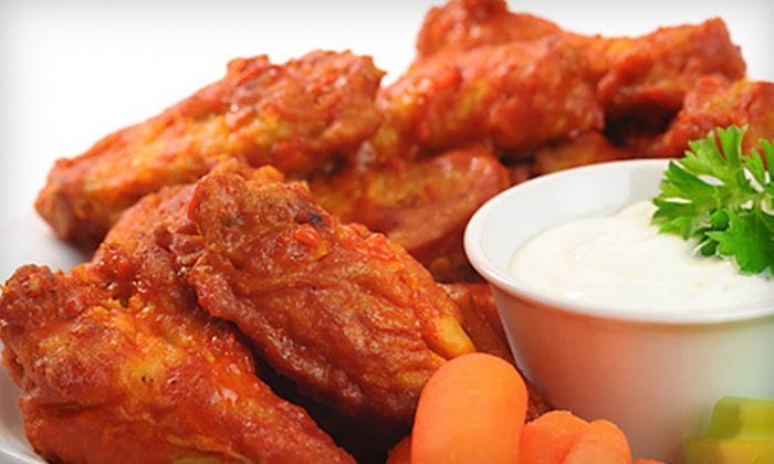 Bronco's Sports Bar & Grill - University Plaza: Burgers, Wings, and Tex-Mex Food at Bronco's Sports Bar & Grill (Up to Half Off). Two Options Available.