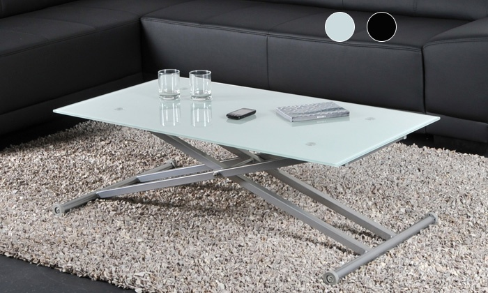 table basse multipositions groupon shopping. Black Bedroom Furniture Sets. Home Design Ideas