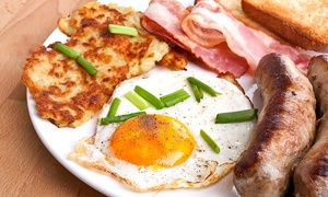 C.J's: Breakfast or Lunch With Drink and Cake For Two for £6.95 at CJ's