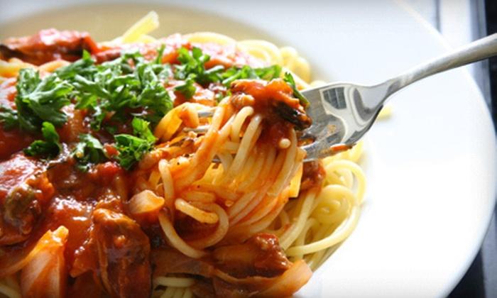 Gino's Italian-American Market - 441 Corridor: $19 for All-You-Can-Eat Pasta with Mozzarella-Making Exhibition and Wine at Gino's Italian-American Market ($55 Value)