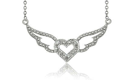 Angel Heart 1/10-CTTW Diamond Necklace.