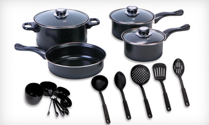 Euro-Home Nonstick Cookware Set: 7- or 20-Piece Euro-Home Nonstick Cookware Set (Up to 65% Off)