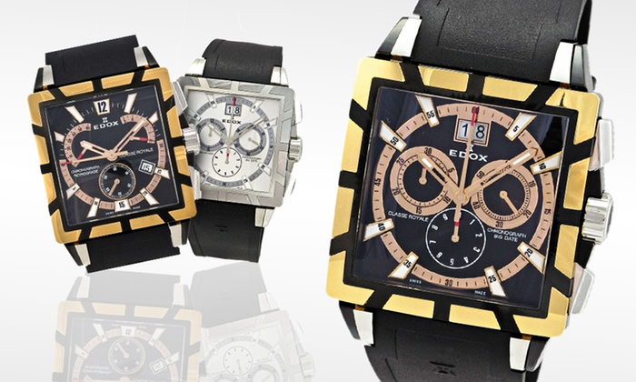 Edox Men's Classe Royale Watches: Edox Men's Classe Royale Watches (Up to 73% Off). Six Styles Available. Free Shipping and Free Returns.