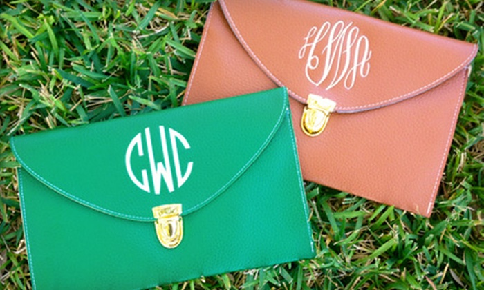 Social Monograms: $24 for Custom Monogrammed Clutch Purse from Social Monograms ($48 Value)