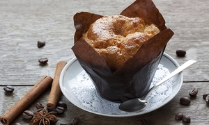 Muffin Break: Choice of Any Small Hot Drink and Any Muffin or Slice of the Day For One or Two at Muffin Break (44% Off)