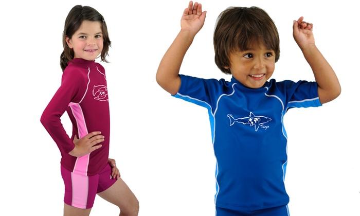 Up to 54% Off a Boys  or Girls  Rash Guard Swim Shirt ... af679209a