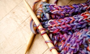 Fashion-knit: Two-Hour Learn to Knit Class for One or Two, or $30 or $60 Credit Toward Any Class at Fashion-knit (Up to 57% Off)