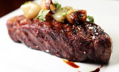 Steak and Seafood at Café la Cave (Up to 48% Off). Two Options Available.