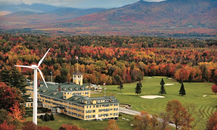 null - Boston: Stay at Mountain View Grand Resort & Spa in Whitefield, NH. Dates Available into December.