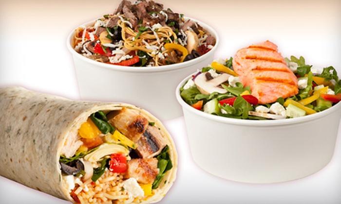 Burrissimo Fast Fresh Italian - Costa Mesa: $8 for Two Entrées; Choice of Italian Burrito, Pasta or Salad Bowl at Burrissimo Fast Fresh Italian (Up to $15.98 Value)