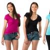 12-Pack of Women's V-neck T-shirts