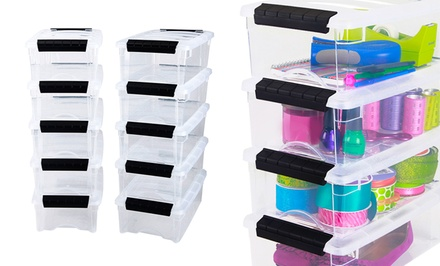 Set of 10 Stack & Pull Modular Storage Boxes