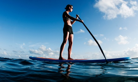 Stand-Up Paddleboarding for Two or Four, or Five SUP Yoga or Bootcamp Classes at Paddleworks (Up to 51% Off)