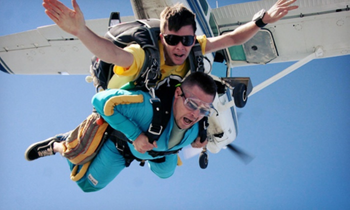 Skydive East Tennessee - East Tennessee: $138.99 for a Tandem Skydive over Smoky Mountains from Skydive East Tennessee ($224 Value)