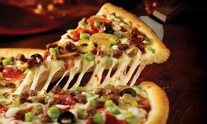 Pizza Inn - Live Oak St. - Peak's: $14 for a Thin-Crust Pizza Meal for Delivery or Pickup at Pizza Inn - Live Oak St. ($28.16 Value)