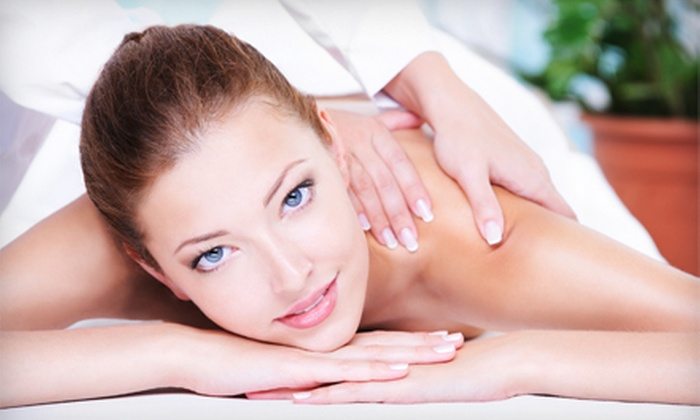 Spa Evian Beauty - Vancouver: $99 for Spa Package with Massage, Facial, Anti-Aging Treatment, and Lip Treatment at Spa Evian Beauty ($235 Value)