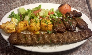 Kababi Zaytoon Mediterranean Restaurant: Mediterranean and Persian for Dine-In or Carry-Out at Kababi Zaytoon (Up to 41% Off). Three Options Available.