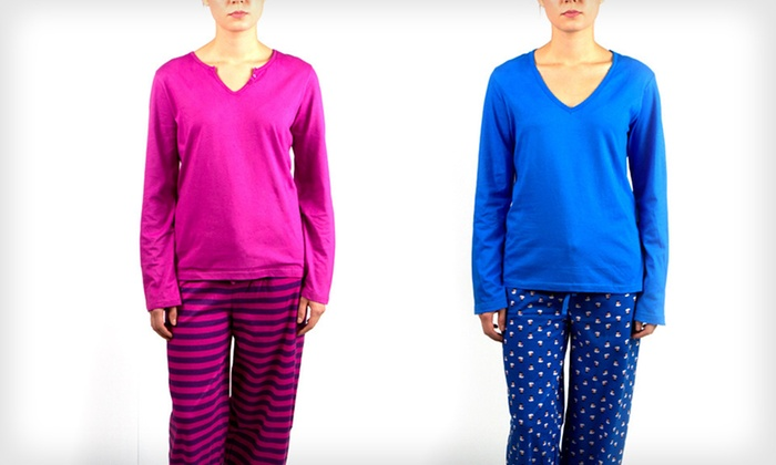 Intimo for Her Women's Two-Piece Pajama Sets: $18 for an Intimo Women's 2-Piece Pajama Set ($42 List Price). Multiple Options Available. Free Shipping and Returns.