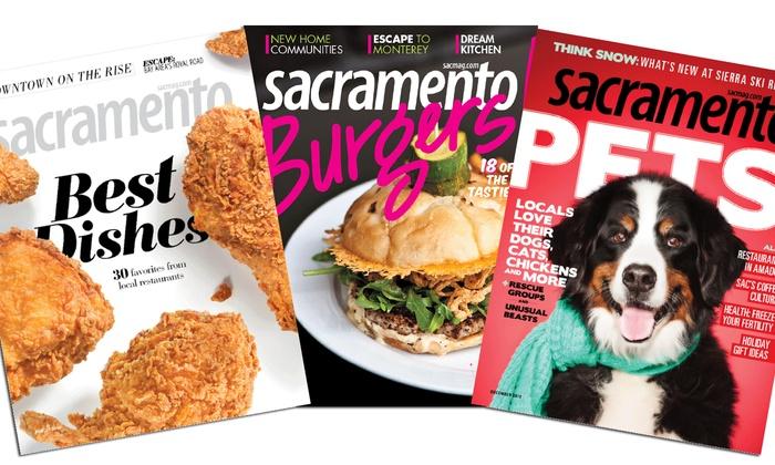 "Sacramento magazine - Sacramento: $9.95 for a Two-Year Subscription to ""Sacramento magazine""  (Up to $22 Value)"