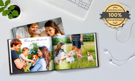 Hasta 5 fotolibros tapa dura fotográfica A4 de 100 pág. con Printerpix (hasta 94% de descuento)