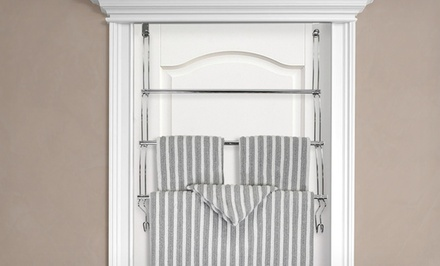 Over-the-Door 3-Tier Steel Towel Rack
