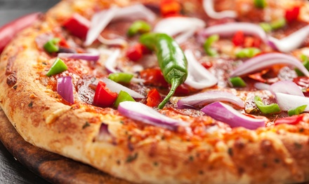 Pizza and Drinks at Brothers Pizza (Up to 40% Off). Four Options Available.