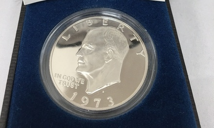 1973 Eisenhower Dollar Proof with Gift Box