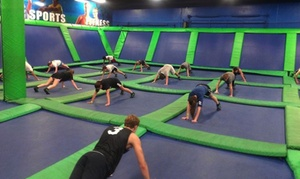 AirHeads Trampoline Arena: Three or Six Classes or One Month of Unlimited Trampoline-Fitness Classes (Up to 60% Off)