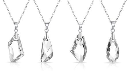 1 o 2 collares de plata con cristal de Swarovski®