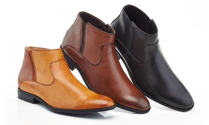 b7dafaa10e0 Franco Vanucci Men's Zip-Up Dress Boots | Groupon