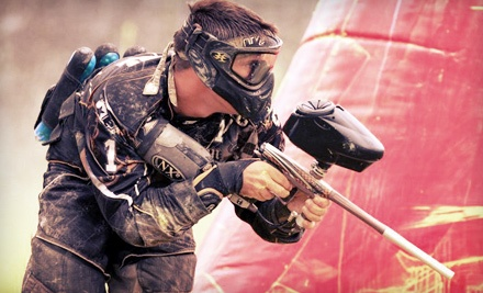 Indoor Paintball Package for 2, 6, or 10 with Gear Rental at Paintball Action Games (Up to 67% Off)