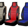 Pair of Leatherette Front Seat Cushion Pads