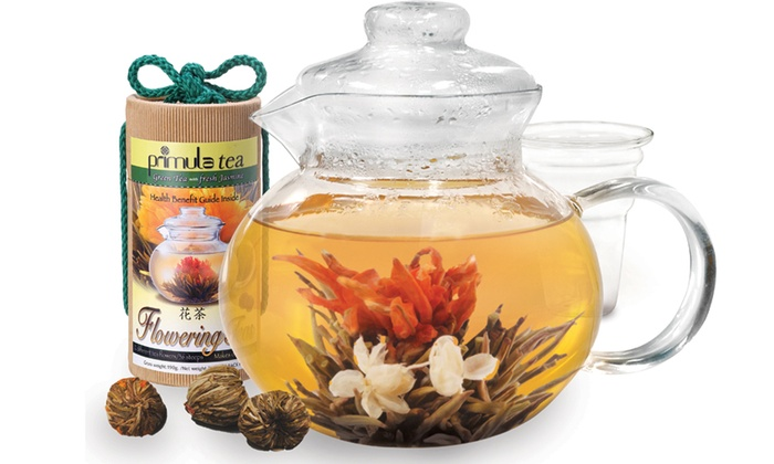 Epoca Tea Flowering Tea Gift Set: Epoca Tea Flowering Tea Gift Sets with a Teapot and 13 or 25 Tea Blooms from $19.99–$27.99
