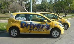 Driver's school: $749 en vez de $1600 por 4 clases de manejo en transito real con Driver's School, 19 sucursales