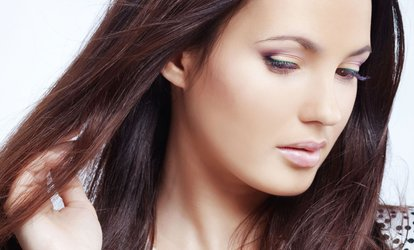 image for Cut and Finish with Optional Half Head Highlights or Full Head Colour at At Hair & Beauty (Up to 73% Off)