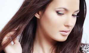 A T Hair & Beauty: Cut and Finish with Optional Half Head Highlights or Full Head Colour at At Hair & Beauty (Up to 73% Off)