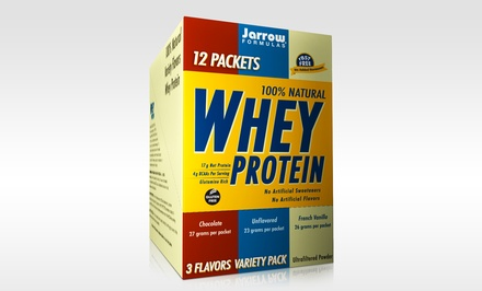 Jarrow Formulas Whey Protein 3-Flavor Variety Pack; 3-Pack of 12ct. Boxes + 5% Back in Groupon Bucks